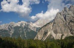 Montagna di Skrlatica, alpi di Julian, Slovenia Fotografia Stock