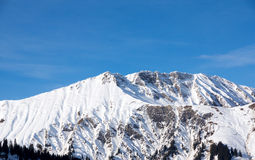 Montagna di Snowy Fotografia Stock
