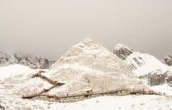 Montagna di Snowy Immagini Stock