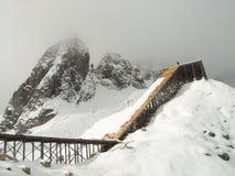 Montagna di Snowy Fotografia Stock Libera da Diritti