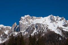 Montagna di Snowy Immagine Stock