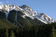 Montagna di Snowy Fotografie Stock