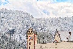 Montagna di Snowy in Germania Immagini Stock Libere da Diritti