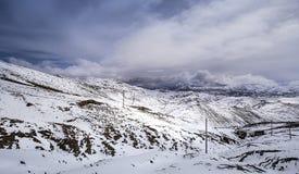 Montagna di Snowy in Himalaya, Tibet immagine stock libera da diritti