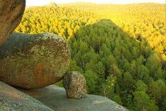 Montagna di Stolby in Siberia Immagine Stock