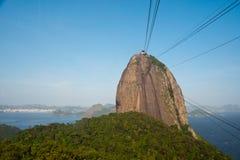 Montagna di Sugarloaf, Rio de Janeiro, Brasile Immagini Stock Libere da Diritti