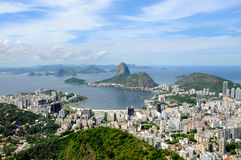 Montagna di Sugarloaf in Rio de Janeiro, Brasile. Immagine Stock