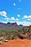 Montagna di Sugarloaf, traccia della sommità, la contea di Maricopa, Sedona, Arizona, Stati Uniti immagine stock