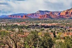 Montagna di Sugarloaf, traccia della sommità, la contea di Maricopa, Sedona, Arizona, Stati Uniti fotografia stock libera da diritti