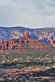 Montagna di Sugarloaf, traccia della sommità, la contea di Maricopa, Sedona, Arizona, Stati Uniti fotografia stock