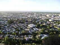 Montagna di Sulaiman-Too Vista della città di Oš Immagini Stock Libere da Diritti