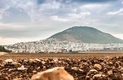 Montagna di Tabor e valle di Jezreel in Galilea, Israele immagine stock libera da diritti