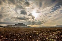Montagna di Tabor e valle di Jezreel in Galilea, Israele fotografia stock libera da diritti