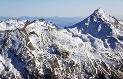 Montagna di Taschhorn ad un'altezza di 4491 metro Fotografia Stock