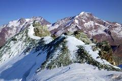 Montagna di Taschhorn ad un'altezza di 4491 metro Fotografie Stock Libere da Diritti