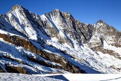 Montagna di Taschhorn ad un'altezza di 4491 metro Immagine Stock