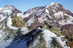 Montagna di Taschhorn ad un'altezza di 4491 metro Immagini Stock