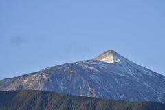 Montagna di Teide con la foresta in priorità alta Fotografie Stock Libere da Diritti