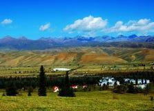 Montagna di Tianshan, bello gongnaisi River Valley fotografia stock libera da diritti