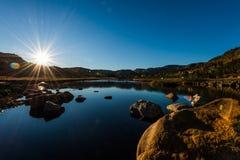 Montagna di tramonto Fotografia Stock Libera da Diritti