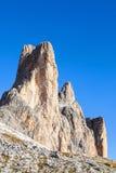 Montagna di Tre Cime Di Lavaredo Fotografia Stock