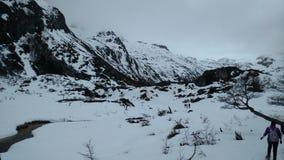 Montagna di Ushuaia Fotografie Stock