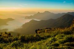 Vista del 'chi' Fa di Phu a Chiang Rai, Tailandia Fotografie Stock Libere da Diritti
