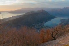Montagna di Vrmac. Il Montenegro Immagine Stock
