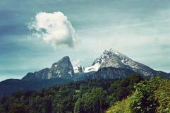 Montagna di Watzmann nel parco nazionale di Berchtesgaden Fotografia Stock