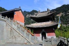 Montagna di Wudang, una Terra Santa famosa del taoista in Cina Fotografia Stock Libera da Diritti