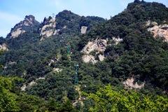 Montagna di Wudang, una Terra Santa famosa del taoista in Cina Fotografie Stock