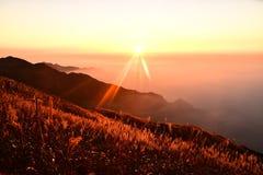 Montagna di Wugong Fotografie Stock Libere da Diritti