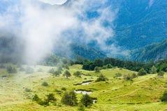 Montagna di Wuling a Taiwan fotografia stock
