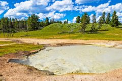 Montagna di Yellowstone in ombra Fotografia Stock Libera da Diritti