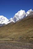 Montagna di Yerupaja nelle alte Ande Fotografie Stock Libere da Diritti