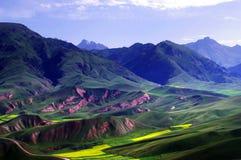 Montagna di Zhuoer Fotografie Stock