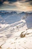Montagna di Zugspitze scenica immagine stock