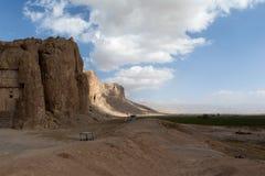 Montagna e cielo blu nell'Iran Fotografia Stock