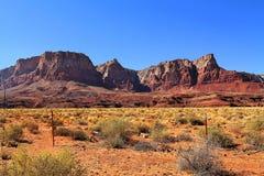 Montagna e deserto Immagini Stock Libere da Diritti