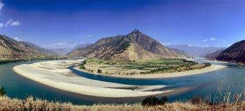 Montagna e fiumi Fotografia Stock