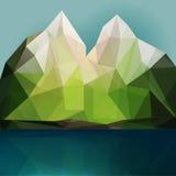 Montagna e lago Immagine Stock Libera da Diritti