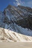 Montagna e lago della neve fotografia stock libera da diritti