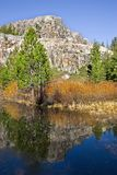 Montagna e lago libero Immagini Stock Libere da Diritti