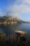 Montagna e paesaggio del mare.   Immagine Stock Libera da Diritti