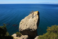 Montagna e paesaggio del mare. Foto 0389 Immagini Stock Libere da Diritti