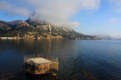 Montagna e paesaggio del mare. Foto 2243 Fotografia Stock