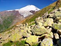 Montagna e pietre Fotografia Stock