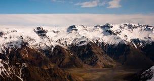 Montagna e valle Fotografia Stock