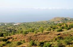 Montagna e valle di Ponta Verde Fotografia Stock Libera da Diritti