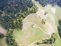 Montagna e valle in Luthern fotografia stock libera da diritti